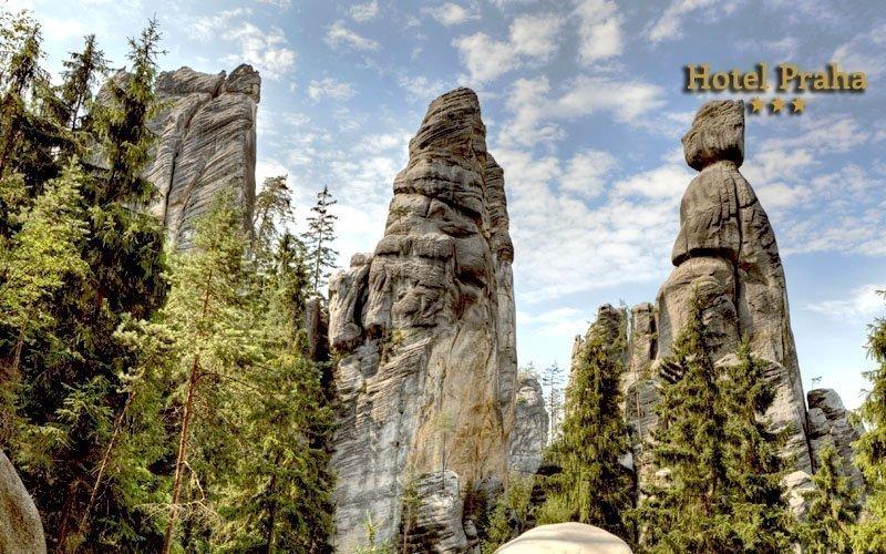 Adršpach: dovolená u skalního města s polopenzí až do listopadu