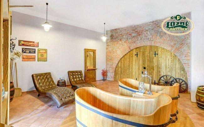 Poděbrady v penzionu Obora se snídaní a koupelí v pivní lázni s konzumací piva