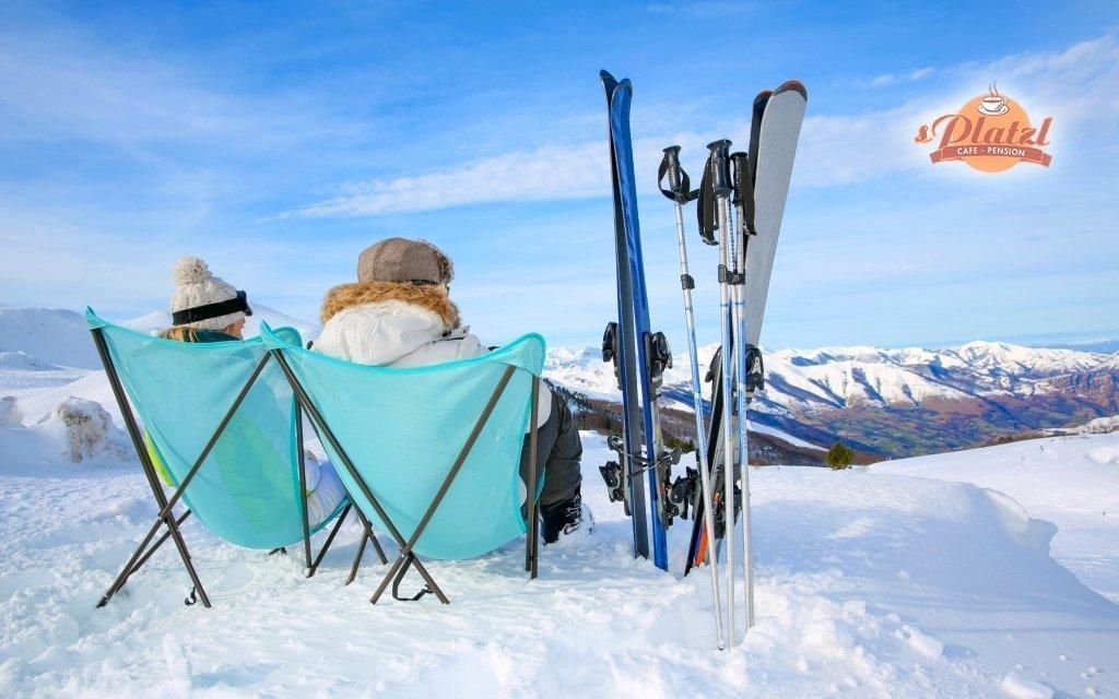 Rakouské Alpy se snídaní v rodinném penzionu jen 300 metrů od sjezdovky