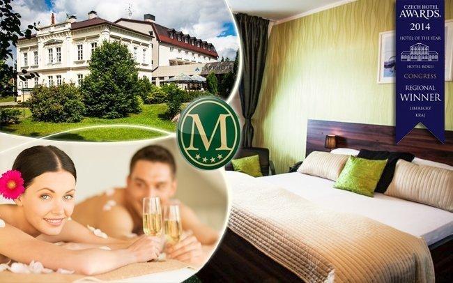 Nový Bor: wellness hýčkání ve 4* hotelu i romantika pro vaši drahou polovičku
