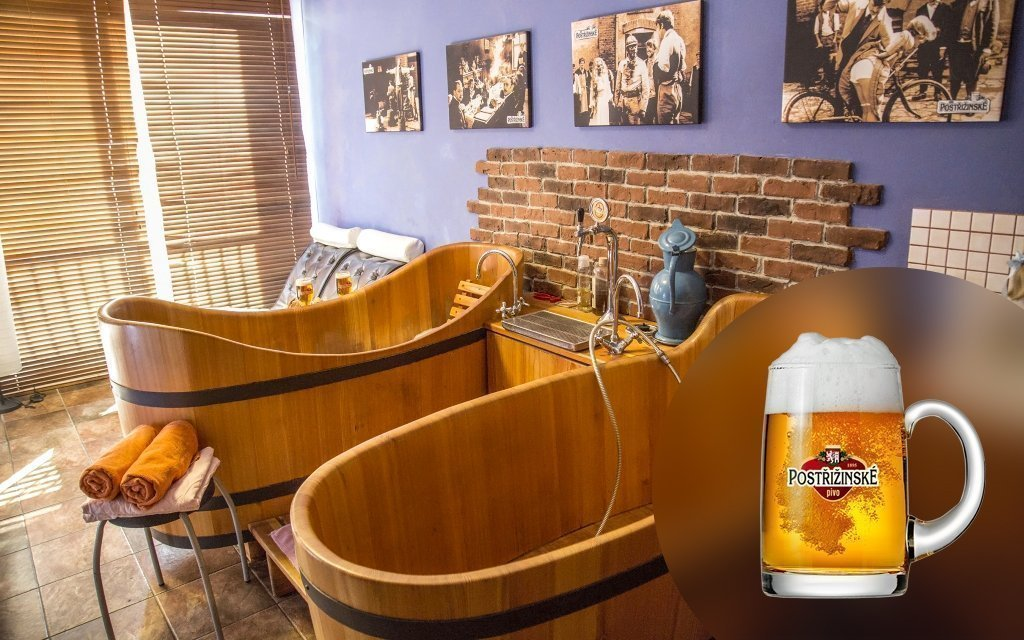 Poděbradské pivní lázně ve stylu Postřižin s procedurami a konzumací piva