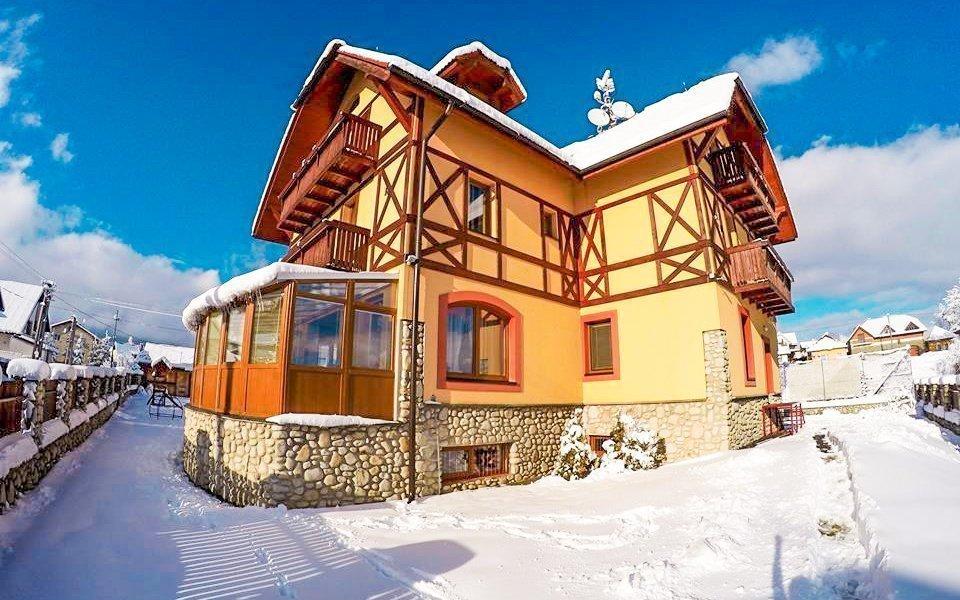 Vysoké Tatry na zimu v Penzionu Baďo s wellness, polopenzí a slevami