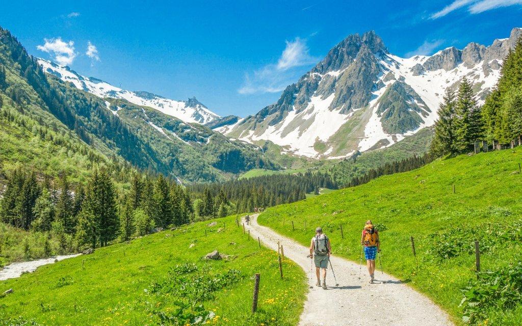 Rakouské Alpy u Hochkaru v českém pensionu Sun se snídaní a půjčením kol