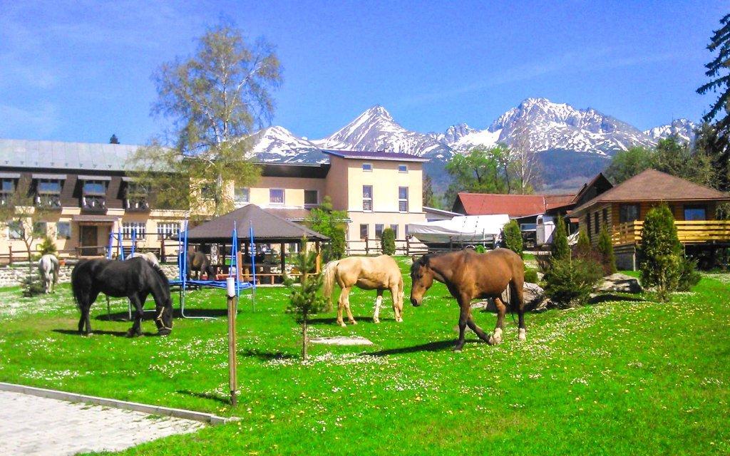 Vysoké Tatry v Penzionu Monty Ranch s polopenzí, jízdou na koni či půjčením kol