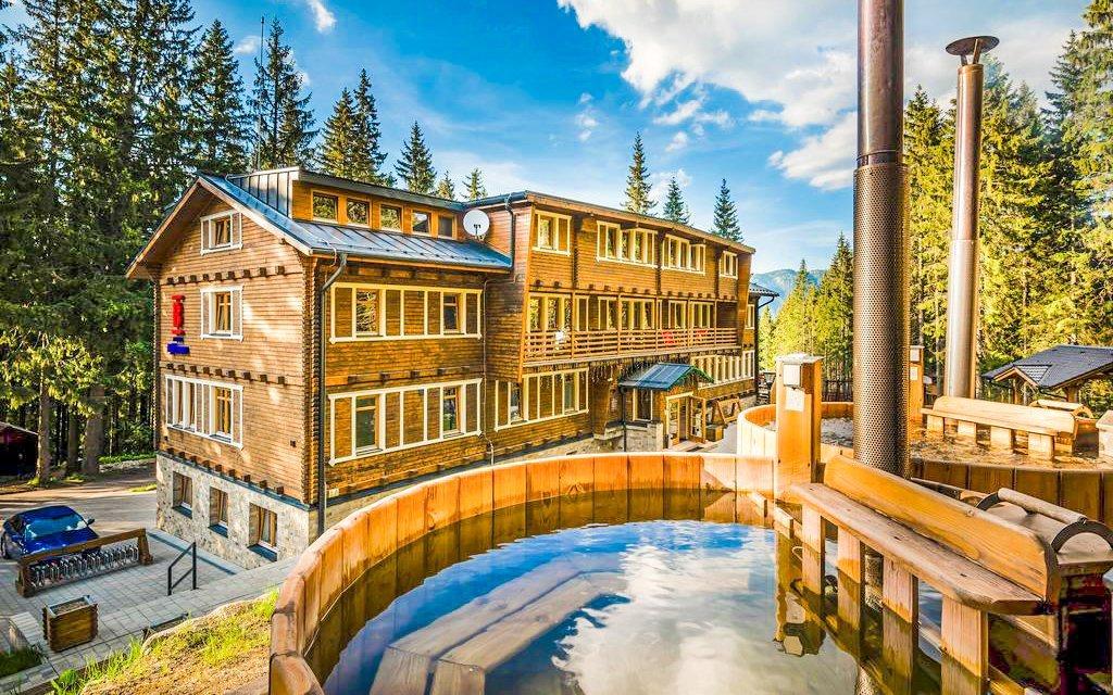 Nízké Tatry: legendární hotel Björnson s polopenzí, finskými káděmi a saunou