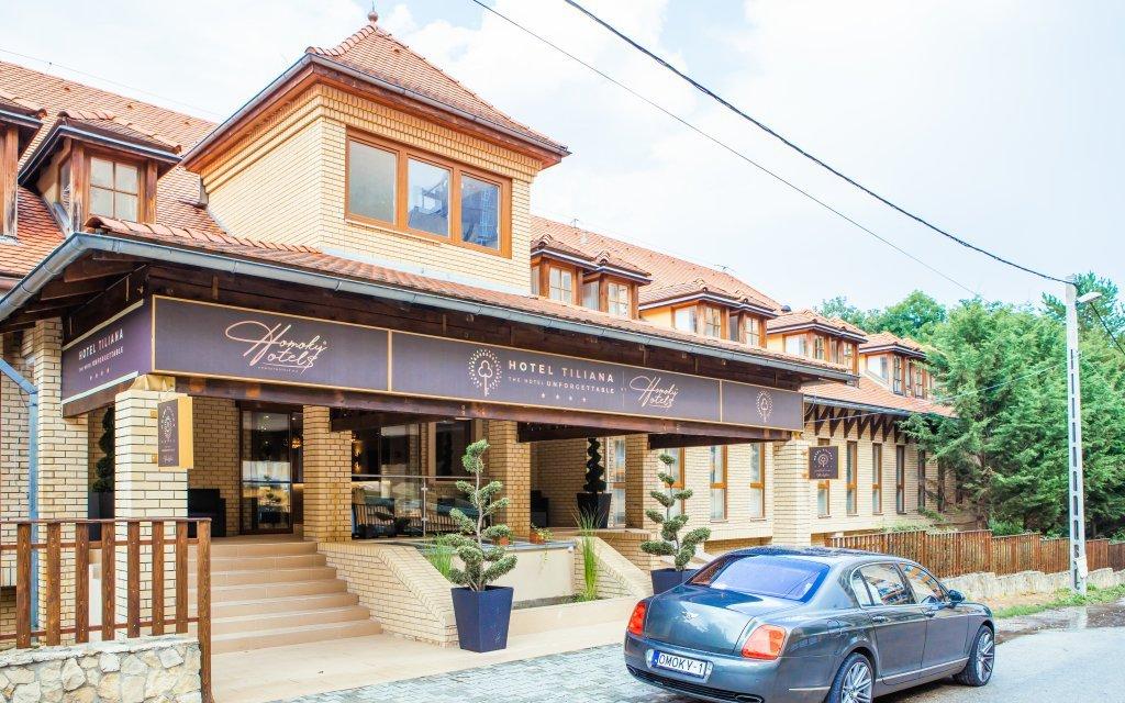 Obrázek Budapešť v moderním Hotelu Tiliana **** se vstupem do lázní, snídaní a vínem není k dispozici